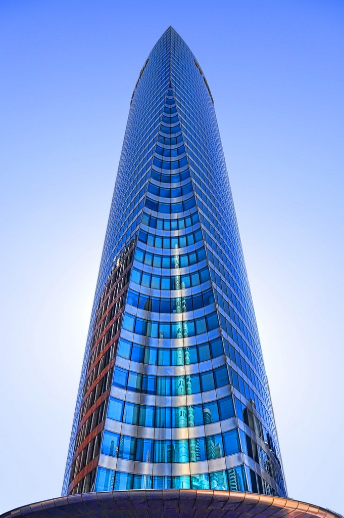 This is skyscraper at the place de la defense in Paris. The image was