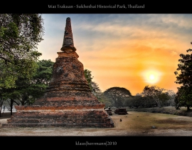 Wat Trakuan - Sukhothai Historical Park, Thailand (Exposure Fusion)