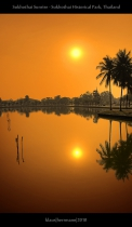 Sukhothai Sunrise - Sukhothai Historical Park, Thailand (HDR)