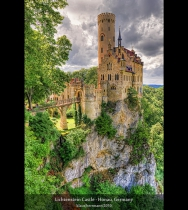 Lichtenstein Castle - Honau, Germany (HDR)