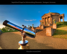 Sepulchral Chapel on Wuerttemberg Mountain - Stuttgart, Germany (HDR)