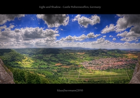 Light and Shadow - Castle Hohenneuffen, Germany (HDR Panorama)