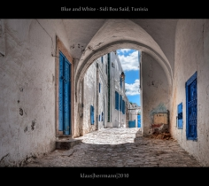 Blue and White - Sidi Bou Said, Tunisia (HDR)
