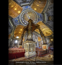 Michelangelo\&#039;s Dome - St. Peter\&#039;s Basilica, Vatican (HDR Vertorama)