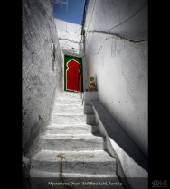 Mysterious Door - Sidi Bou Said, Tunisia (HDR)
