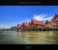 The Fishing Village - Ko Panyi, Thailand (HDR)