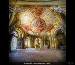 Baroque Oval - Ludwigsburg Palace, Germany (HDR Vertorama)