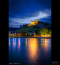 This is a 8-exposure HDR image of Fortress Marienberg in Wrzburg. Read on to take my little lesson on shooting HDR at the blue hour.