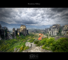 HDR image of Rosnou Abbey - Meteora, Greece. 6 exposures post-processing in Photomatix and Photoshop
