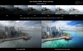 Before-and-after: hdr-before-and-after-izmir-harbor