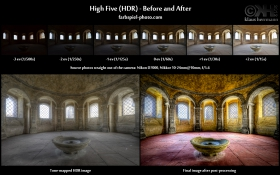 Before-and-After comparison of 'High Five (HDR)' - See where this image comes from