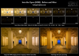 HDR Before and After - Into the Open