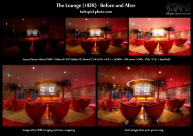 Before-and-after: HDR Before and After: The Lounge