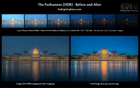HDR Before and After - The Parliament
