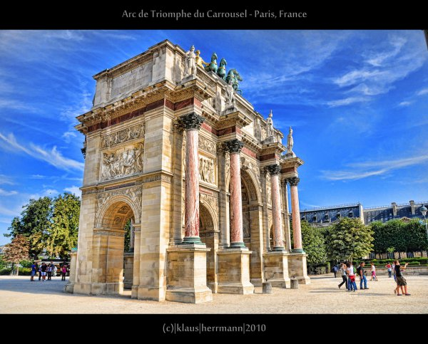 Arc de Triomphe du Carrousel - Paris, France