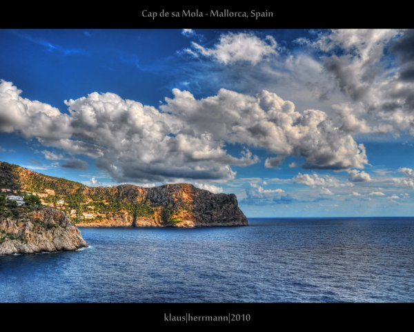 View from Cap de sa Mola, south coast of Mallorca.