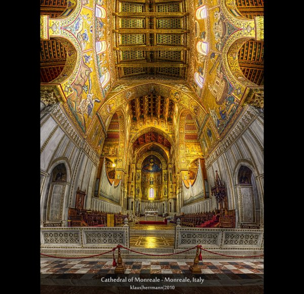 Cathedral of Monreale - Monreale, Italy (HDR Vertorama)