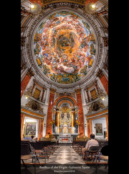 Basilica of the Virgin - Valencia, Spain (HDR Vertorama)