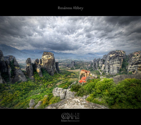 HDR image of Rosánou Abbey - Meteora, Greece. 6 exposures post-processing in Photomatix and Photoshop