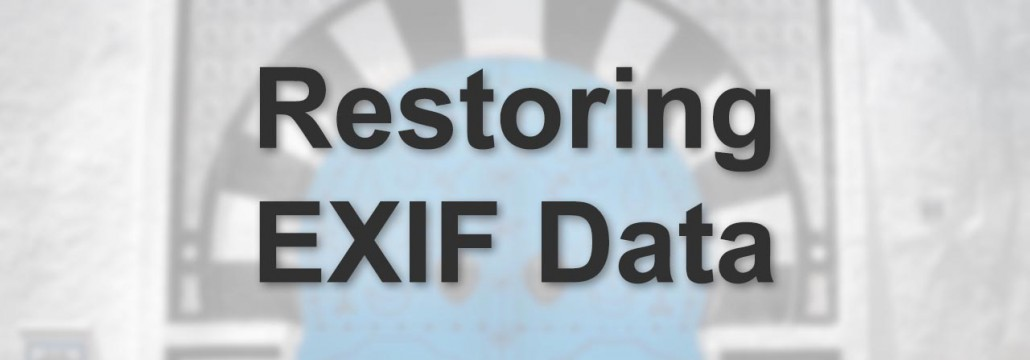HDR Cookbook - Restoring Exif Data -  featured - 01