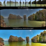 James Bond Rock - Panorama - Phang Nga, Thailand (HDR) - BEFORE AND AFTER - 001