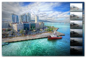 Download the source exposures of the HDR image 'Izmir Harbor' and test your processing skills!