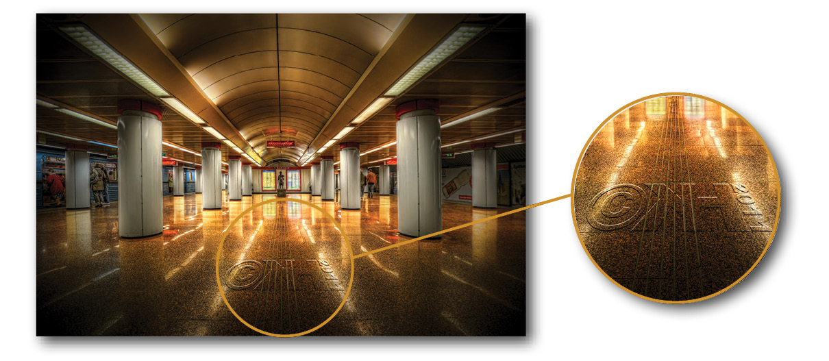 Creative Watermarking - How to Integrate Your Signature into Your Photos - Example 2 - The Tube (HDR)