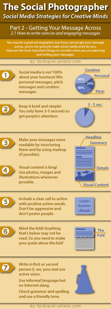 The Social Photographer - Part 2.1 - Infographics - How to get your message across