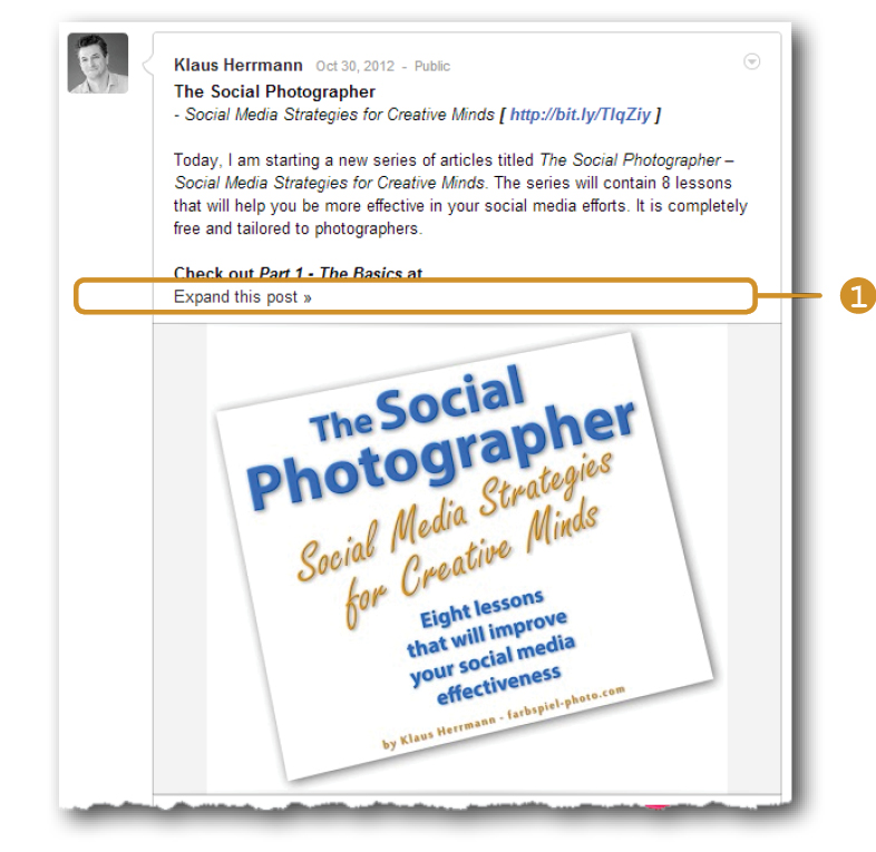 The Social Photographer - Make your point above the fold