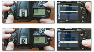 HDR Semi-Autobracketing: Store the same settings with different exposure compensation in your user settings