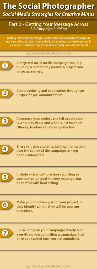 The Social Photographer - Part 2.2 - Infographic - Campaign Building