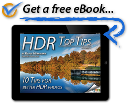 You will receive a free copy of 'HDR Top Tips' in your welcome email.