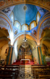 Santorini Cathedral (HDR) - Dynamic Before-and-After
