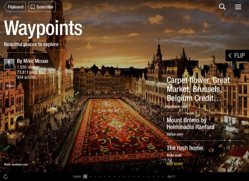 Waypoints Flipboard Magazine by Mike Mccue