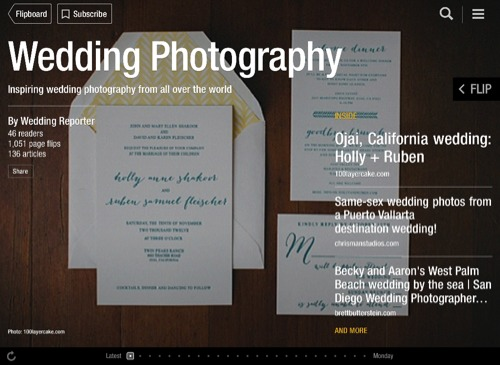 Wedding Photography Flipboard Magazine by Wedding Reporter