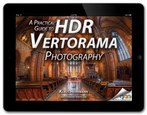 A Practical Guide to HDR Vertorama Photography - eBook cover iPad