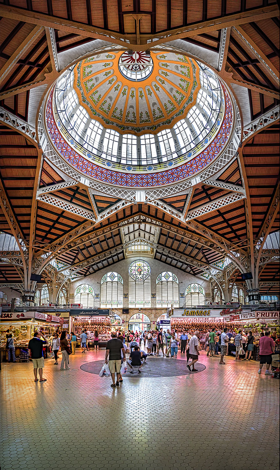 Mercado Central - Valencia, Spain (HDR Vertorama) - farbspiel photography