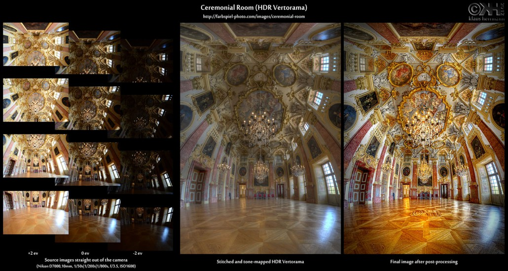 Ceremonial Room (HDR Vertorama) - Before and After comparison (click to enlarge)