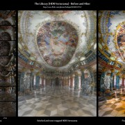 The Library (HDR Vertorama) - Before-and-After comparison (click to enlarge)