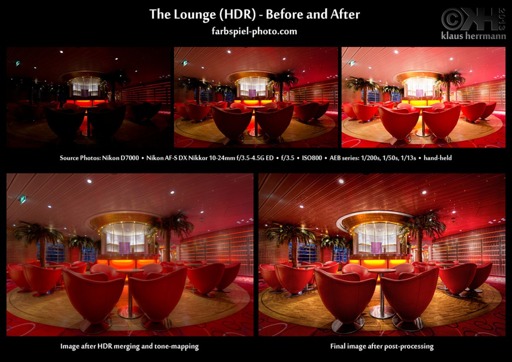 HDR Before and After - The Lounge