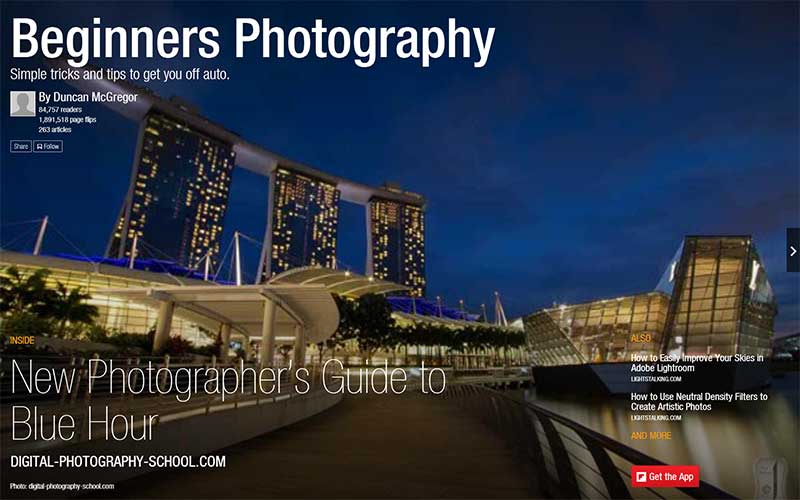 Beginners Photography Flipboard Magazine by Duncan McGregor
