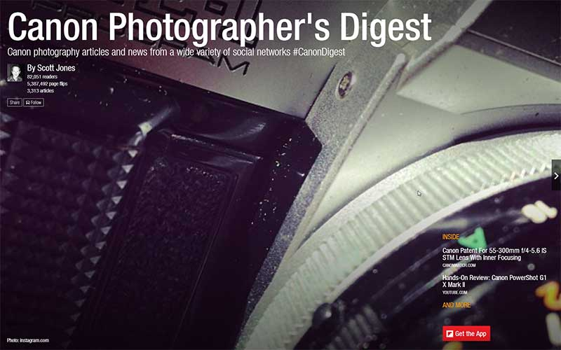 Canon Photographer's Digest Flipboard Magazine by Scott Jones