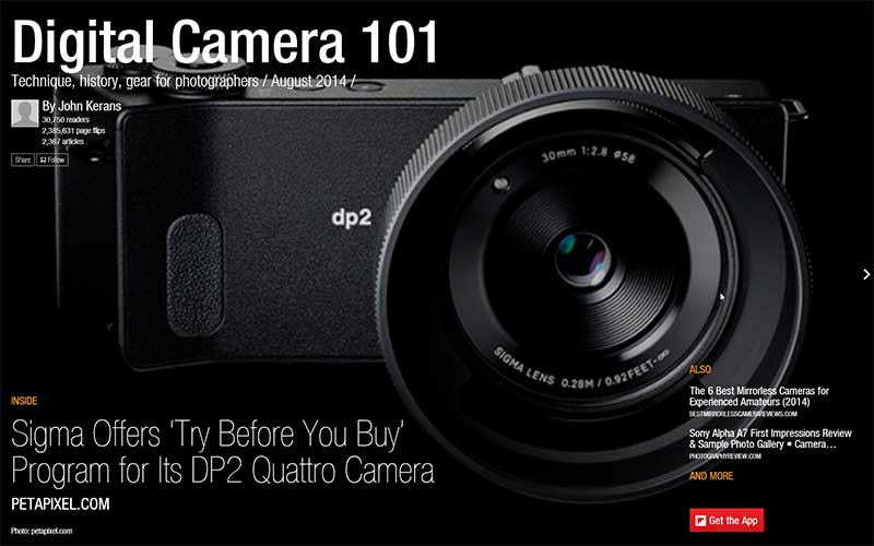 Digital Camera 101 Flipboard Magazine by John Kerans