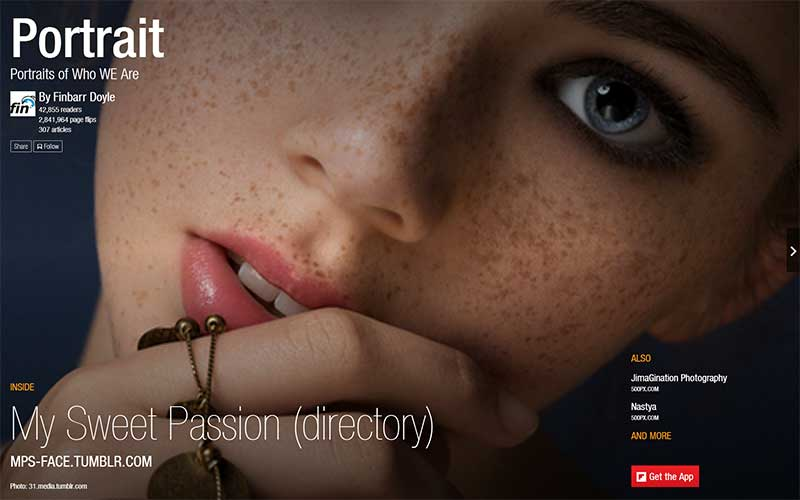 Portrait Flipboard Magazine by Finbarr Doyle
