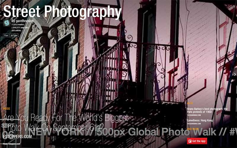 Street Photography Flipboard Magazine by garethnealon