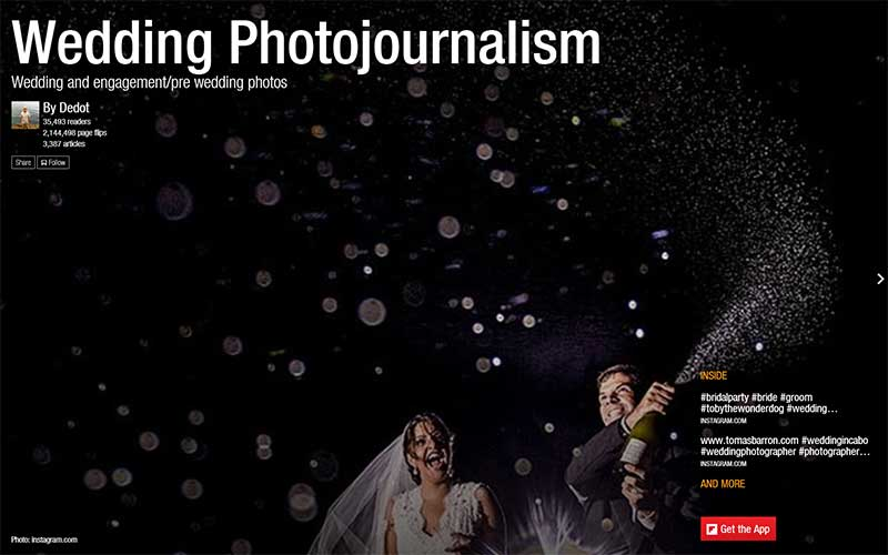 Wedding Photojournalism Flipboard Magazine by Dedot