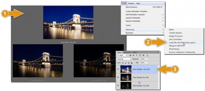 HDR-using-Photoshop-layer-masks-only---source-exposures