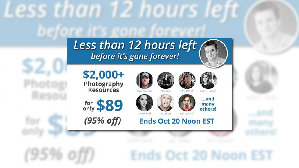 $2,000+ Photography Tools for $89 - Less than 12 hours to go ...