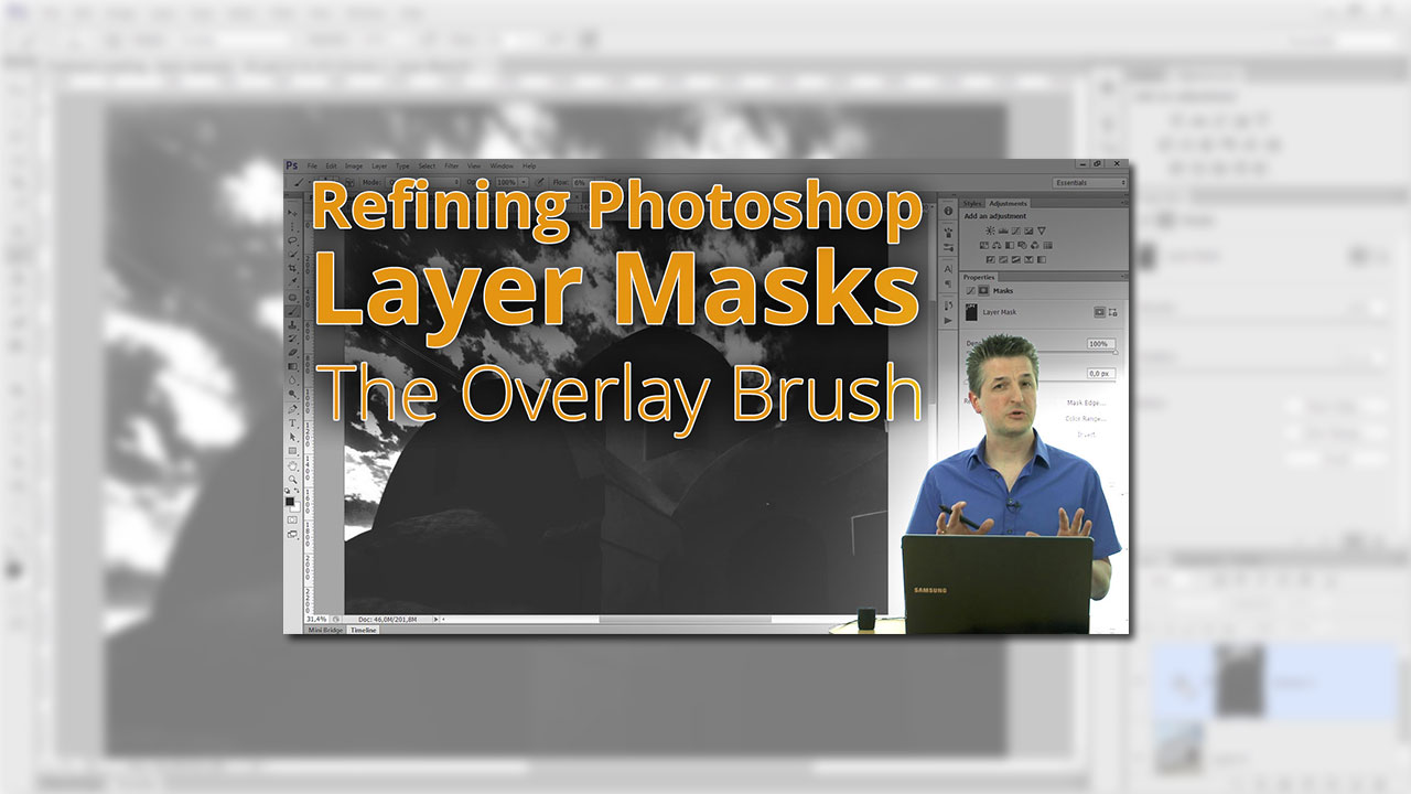 How to Refine Photoshop Layer Masks with an Overlay Brush