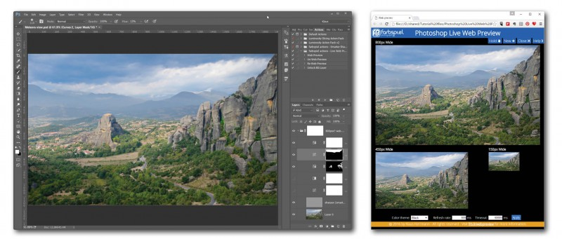 How to Get a Live Web Preview in Photoshop